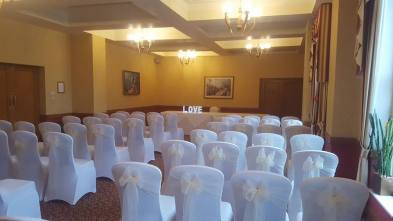 Ivory sashes at the Grand hotel