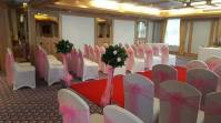 Baby pink sashes at The Carlton Hotel