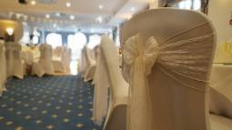 Ivory sash with lace overlay at The Berry Head Hotel Brixham