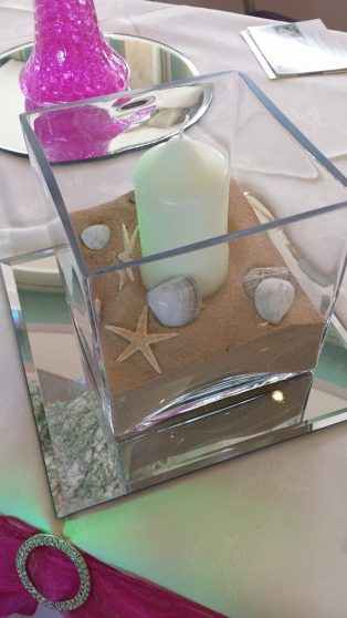 Beach themed centre piece