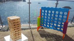 Giant jenga and connect four