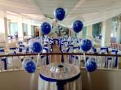 Royal blue satin at The Redcliffe Hotel
