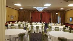 Moss green sashes at The Grand Hotel