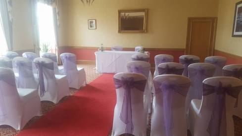 Plum and lilac sashes