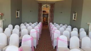 Aisle tied ceremony at The Redcliffe hotel