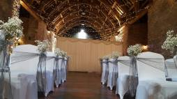Silver sashes at The Spanish Barn