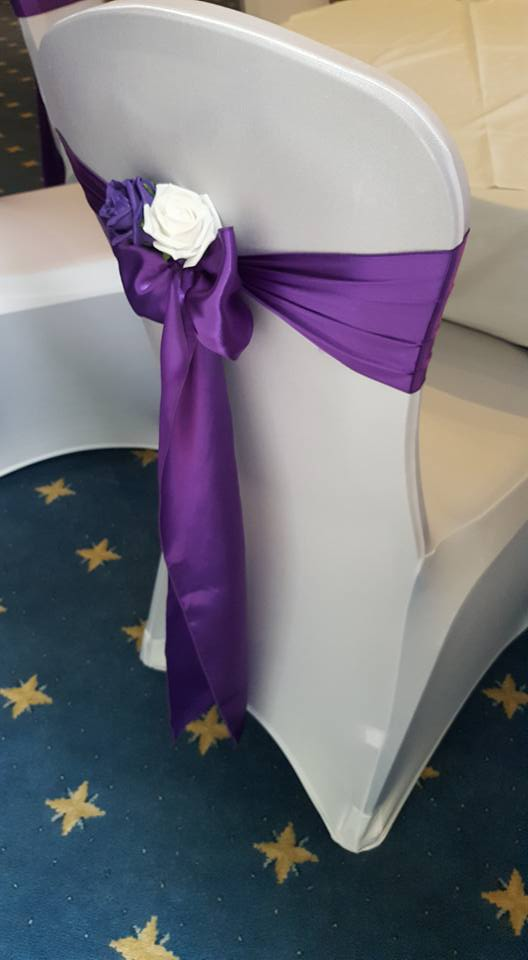 Cadburys satin sash with rose detail