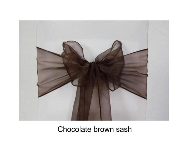 Chocolate brown sash