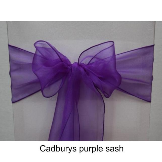 Cadburys purple sash