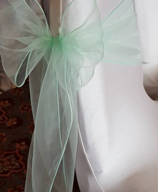 Mint green sash